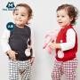 【913超品限时2件3折价:35.7】迷你巴拉巴拉男女婴儿背心针织衫2019春装新款宝宝纯棉卡通可爱毛衣
