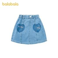 【券后预估价:49.3】巴拉巴拉童装女童短裙儿童牛仔裙夏装小童宝宝半身裙时尚