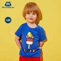 【尾品汇】迷你巴拉巴拉男童短袖T恤纯棉儿童童装夏装度假风上衣男宝宝体恤