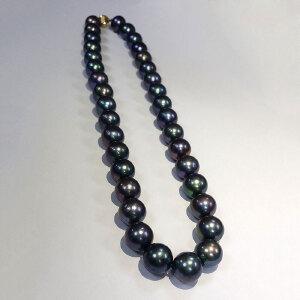 大溪地黑色珍珠项链(14K金扣)
