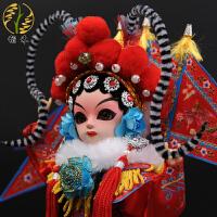 京剧脸谱娃娃人偶纪念品家居装饰摆件礼品