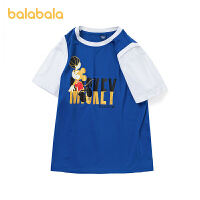【3件5折价:55】巴拉巴拉男童短袖t恤儿童打底衫中大童夏装假两件上衣潮
