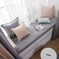灰色北欧现代简约沙发垫飘窗垫海绵坐垫卡座可机洗定制窗台垫色
