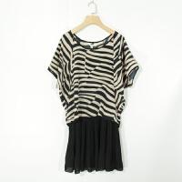 04091女装精品新款简约时尚圆领套头宽松显瘦+吊带连衣裙两件套