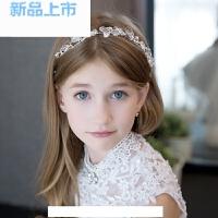 儿童礼服饰品水晶发箍花童发箍生日演出头饰头箍皇冠