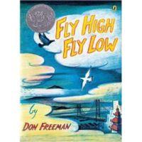 【全店300减100】英文原版 Fly High, Fly Low 飞高飞低 凯迪克银奖 绘本儿童读物