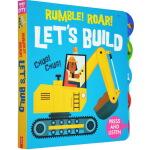 发声书0-3岁 英文原版绘本 Sounds of the City Rumble Roar Let's Build 儿