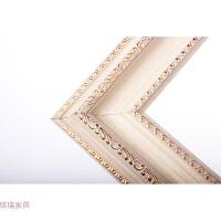 相框定制挂墙组合画框装裱欧式复古油画框十字绣框拼图框镜框定做 白色 复古白