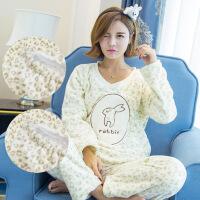 孕妇睡衣秋冬季加厚加绒月子服大码保暖产后哺乳喂奶衣珊瑚绒冬天