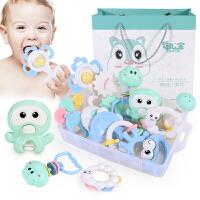 手摇铃玩具0-1岁婴儿手抓手拿宝宝可咬软胶男女孩3-6-12个月8