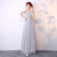 伴娘服2018新款韩版长款伴娘礼服姐妹团显瘦晚礼服结婚小礼服女裙