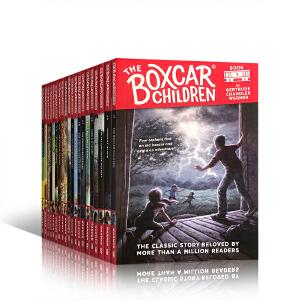 领�幌碌チ⒓�50元 英文进口原版《棚车少年》全20册盒装 75周年纪念版 The Boxcar Children 20-Book Set 笑对挫折的探险故事 励志儿童小说 8-13岁学生课外阅读