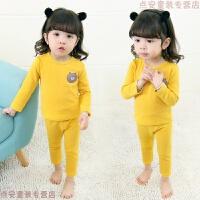 婴儿童装睡衣2内衣套装5黄色粉色小童女宝宝1秋衣秋裤大红色米奇