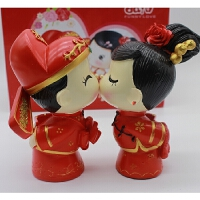 中式婚庆喜娃娃家居装饰品摆件家装客厅电视柜酒柜工艺品结婚礼物