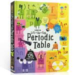 顺丰发货 英文原版 Usborne Lift the Flap Periodic Table 125个元素周期表 儿童