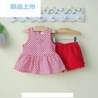 0一1-3周岁婴儿童装女宝宝夏装2公主裙短裤套装夏天衣服夏季薄款4