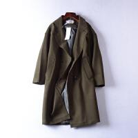 】2.2斤J@7 韩版时尚毛呢大衣冬季新西装领休闲外套
