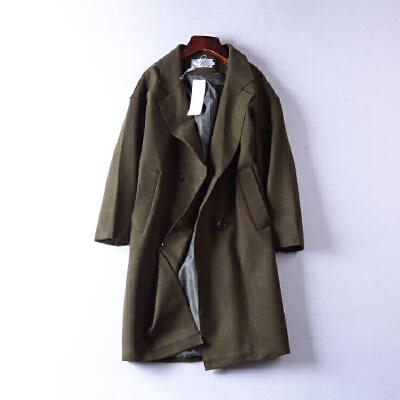 】2.2斤J@7 韩版时尚毛呢大衣冬季新西装领休闲外套 发货周期:一般在付款后2-90天左右发货,具体发货时间请以与客服协商的时间为准