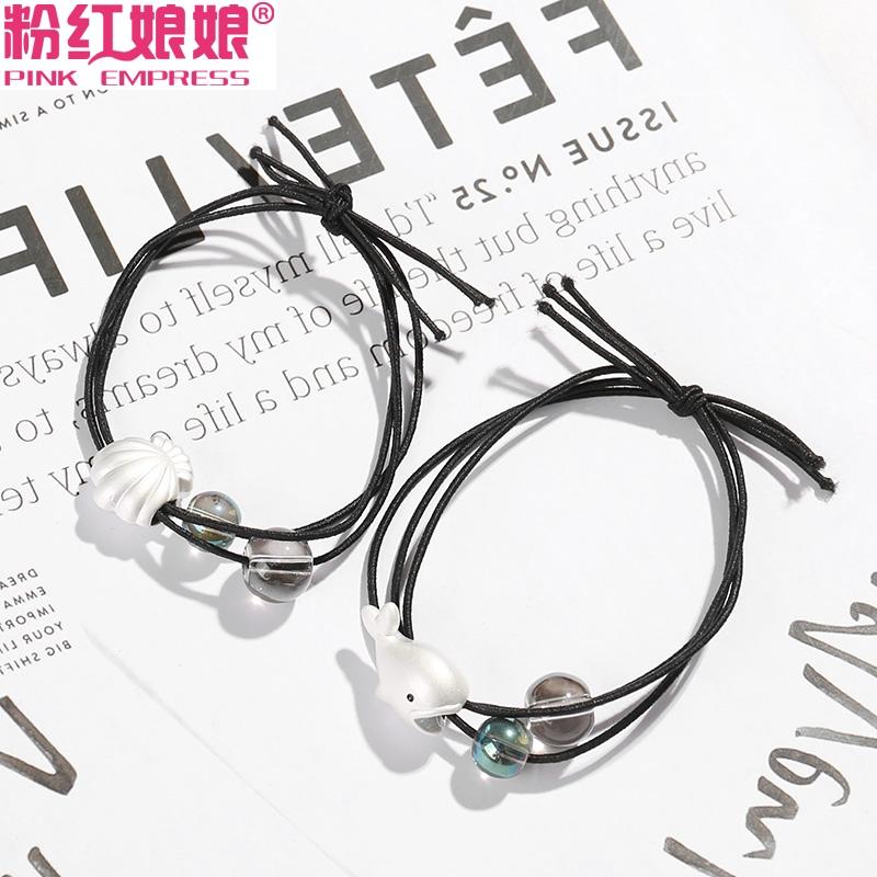 可以当手链的头绳韩国女清新简约可爱鲸鱼扎头发皮筋发绳发饰头饰