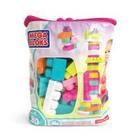 费雪美高积木mega bloks大袋装80片大颗粒拼装插儿童玩具1-2周岁儿童节礼物