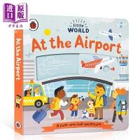 【中商原版】Little World: At the Airport 企鹅小世界机场 低幼亲子启蒙益智游戏书操作书 La