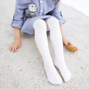 【春夏特价】春季薄款儿童连裤袜白色学生舞蹈袜高弹打底裤纯色袜子