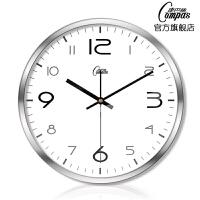钟表挂钟客厅卧室静音扫描金属石英钟创意简约时尚406