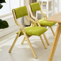 实木折叠椅子靠背椅布艺餐椅电脑椅会议椅麻将椅书桌椅阳台家用椅