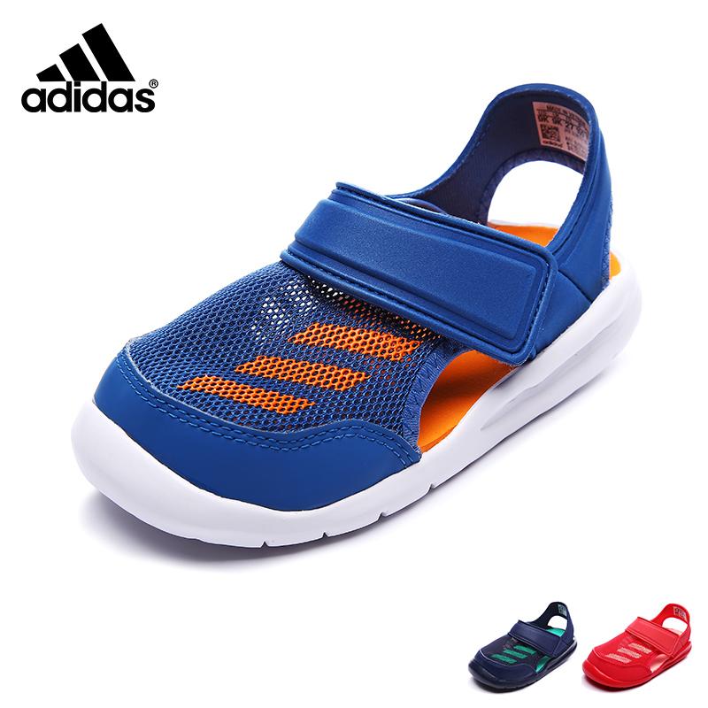 Adidas/阿迪达斯童鞋2017年夏季新品包头凉鞋小童善谈鞋男女童鞋 BA9373【领券拍下满120减50 200减80 支持礼品卡支付】