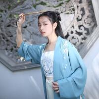 隐香 日常汉服女绣花短褙子改良宋裤单品传统春夏装 仅苹果绿宋裤 预售1个月