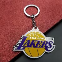 篮球钥匙挂件NBA篮球周边火箭湖人骑士公牛勇士球队标l篮球迷纪念品挂件钥匙扣