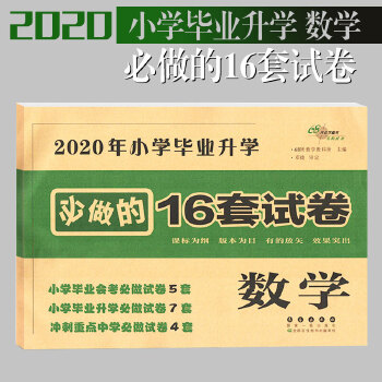 2020年小学毕业升学必做的16套试卷 数学 课堂同步练习册单元测试卷小升初检测卷