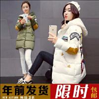孕妇风衣外套秋冬装新款韩版加绒加厚孕妇棉衣外套女中长款上衣冬
