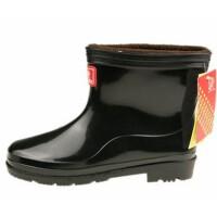 双星半筒男雨鞋男式保暖防滑耐磨加棉中筒劳保雨靴TH-9925-1