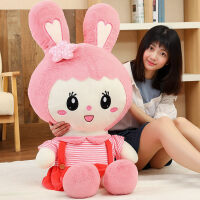 可爱小白兔子毛绒玩具布娃娃公仔兔兔床上睡觉着抱枕儿童女孩超萌