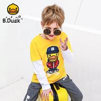 【4折价:115.6】B.Duck小黄鸭童装男童针织圆领长袖T恤 BF1006902