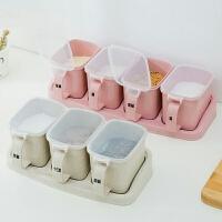 多格调味盒套装家用厨房用品味精放盐塑料调料罐盐罐调料盒组合装
