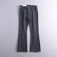 C0FSA25秋冬季韩版新款时尚纯色双口袋牛仔休闲裤