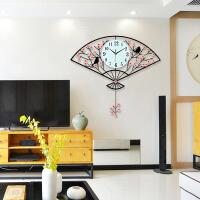 中式钟表挂钟客厅个性时钟家用时尚卧室电子钟中国风装饰挂表