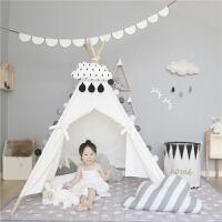 儿童帐篷游戏屋室内小帐篷公主城堡宝宝益智玩具帆布读书角
