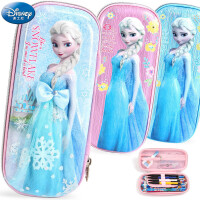 小学生笔袋女大容量铅笔文具盒学生用迪士尼公主冰雪奇缘儿童文具盒女孩可爱卡通