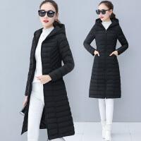 中长款羽绒女2017冬季新款修身显瘦加厚保暖棉衣连帽chic外套
