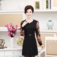 春夏新款30-35-40岁中年少妇女装 品牌修身大码妈妈装连衣裙