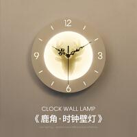 床头灯卧室时钟壁灯创意装饰灯客厅电视背景墙挂灯