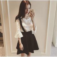 裙子套装两件套春季女装韩版背带群韩国软妹18-24周岁夏裙时尚潮