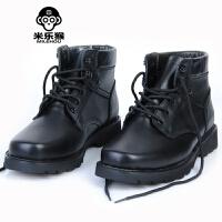 米乐猴 潮牌男士棉皮鞋 短靴羊毛保暖 军靴工装靴 雪地靴 冬季保暖男鞋