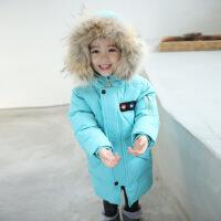 女童羽绒服2018新款女孩韩版中长款洋气儿童宝宝白鸭绒加厚大毛领