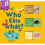 【中商原版】推拉书 谁吃什么?英文原版 Who Eats What? 纸板书 动物百科绘本