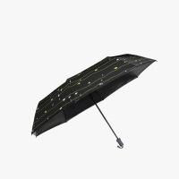 当当优品 便携袖珍五折黑胶晴雨伞 超轻口袋防晒遮阳伞 呆萌鱼