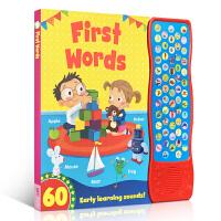 英文原版儿童图书 First Words 单词启蒙 发声书纸板书